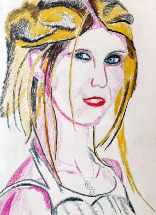Taylor Momsen, coloured pencils, 6in x 8in, 29,10,2019