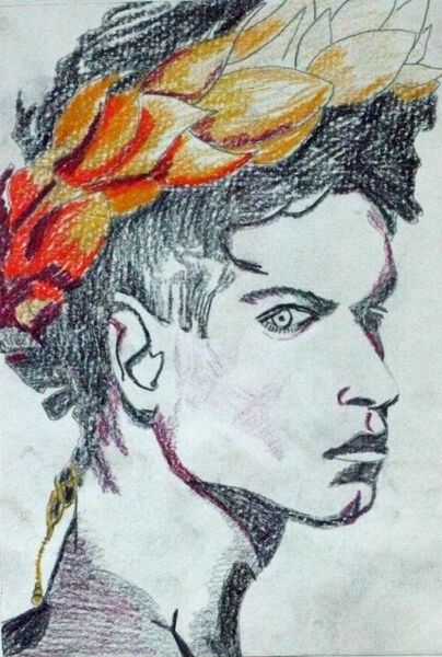 Teen Idol, coloured pencil, 15cm x 20.5cm