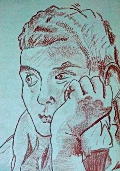 Tiepolo 05, 15cm x 20.5cm, sanguine pencil