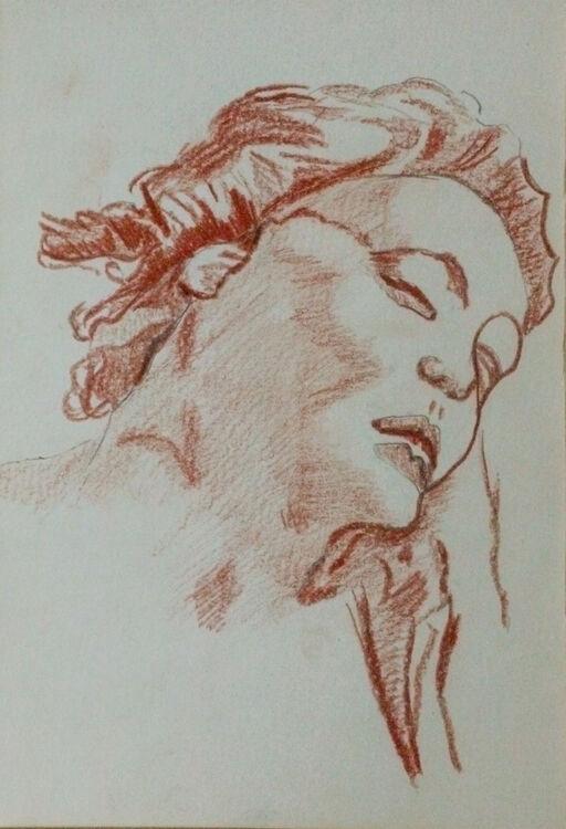 Tiepolo 08, 15cm x 20.5cm, sanguine pencil