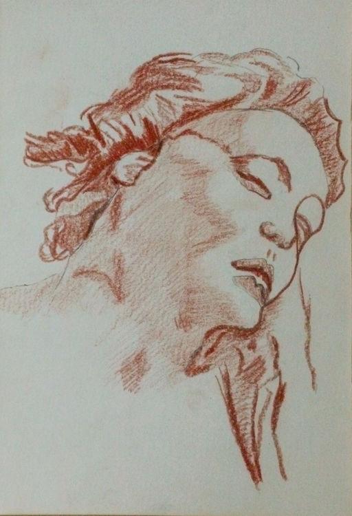 Tiepolo 08, 6in x 8in, sanguine pencil