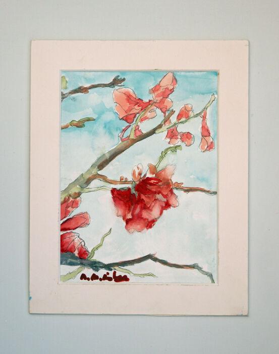 Tree Blossom, 2021, 15cm x 20.5cm, watercolour