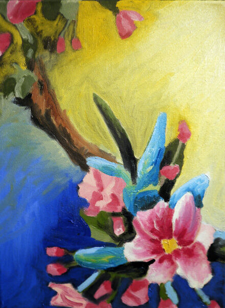 Tree Blossom, 30.5cm x 40.5cm, oil on canvas, 31,12,2020