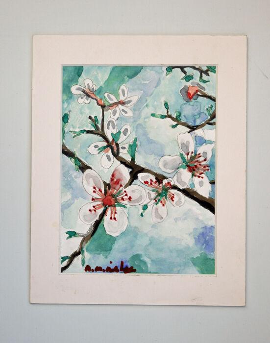 Tree Buds, 2021, 15cm x 20.5cm, watercolour