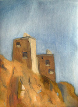 Twin Towers, oil on canvas, 30.5cm x 40.5cm