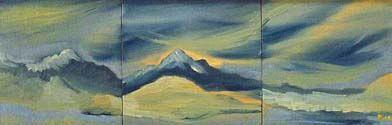 Ukraine, oil on canvas, 20cm x 61cm