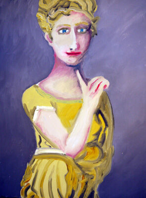 Young Lady, 30.5cm x 40.5cm, oil on arches paper