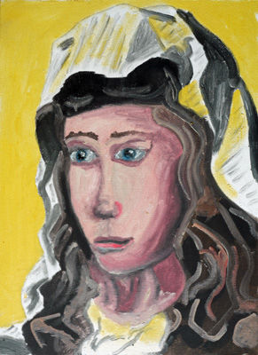 Young Nun, 12in x 16in, oil on board