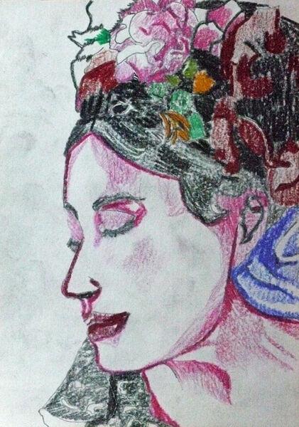 carnival time, coloured pencils, 15cm x 20.5cm