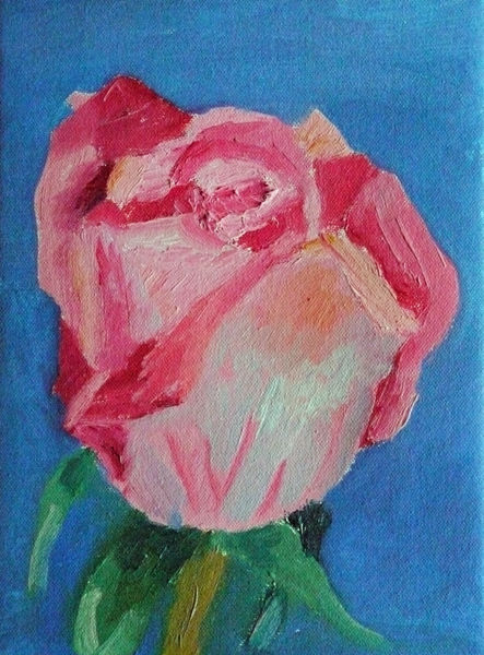 pink rose, oil on canvas, 18cm x 24cm