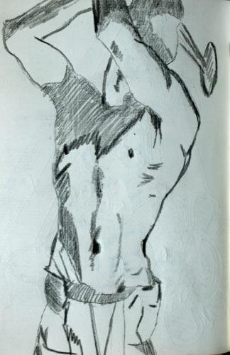 sargent 01 11.5cm x 18cm, charcoal pencil