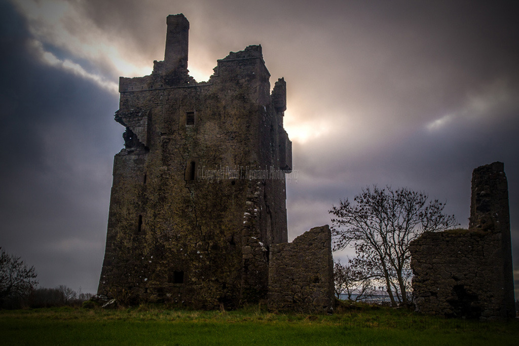 1030-Srah Castle Tullamore Offaly moody morning