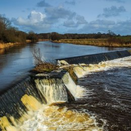 1055-Weir on River Brosna Belmont Offaly Ireland