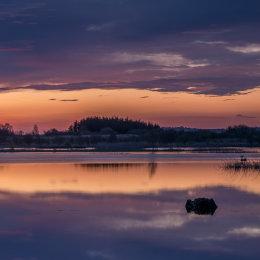 1077-Sky and Lake sunrise Tumduff Lough Boora Parklands Offaly Ireland