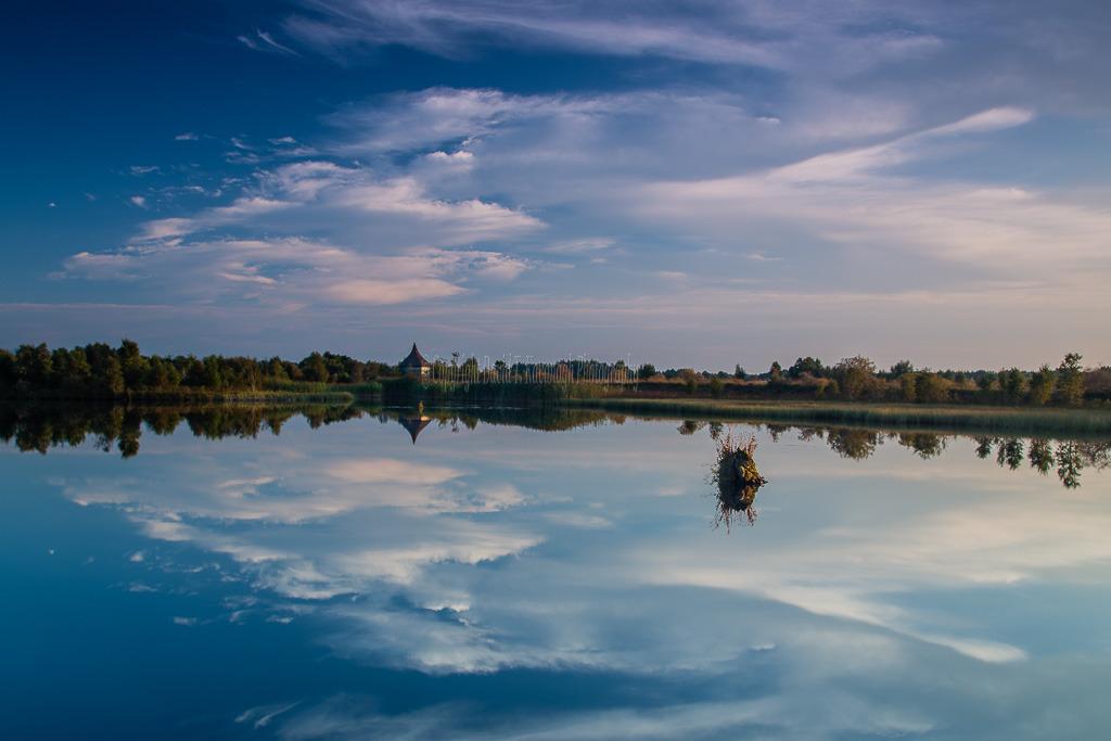 1117-Evening Dusk Tumduff Beag Lough Boora Parklands Offaly