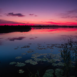 1120-Red Sunset Lough Boora Offaly Ireland