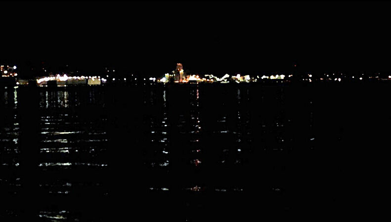 1 City Lights across the River