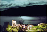 184  Urquhart Castle Loch Ness by moonlight