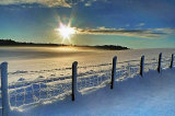 Powdered snow