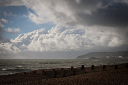 Storm clouds over Eastbourne, East Sussex