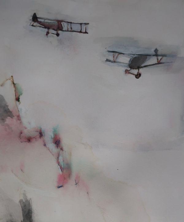 Biplanes over the Italian Alps