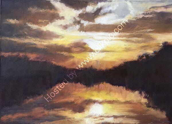Sunset at Bracebridge Pool