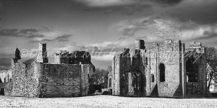 Winter, Lindisfarne Priory, Northumberland