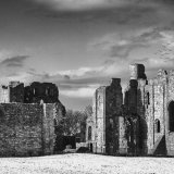 Winter, Lindisfarne Priory, Northumberland