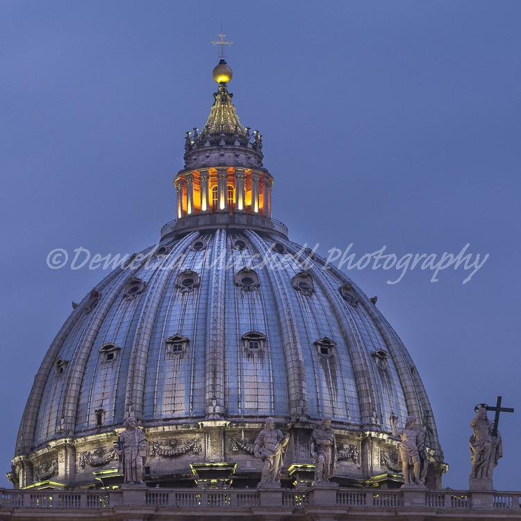 Dome, St Peter's, Rome, Italy