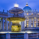 Fountain, St Peter's Square, Rome, Italy