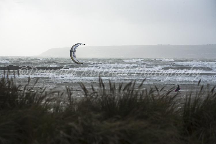 Kite surfer, Mounts Bay, Cornwall