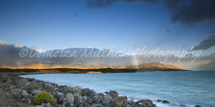 Dawn Rainbow - Lake Pukaki