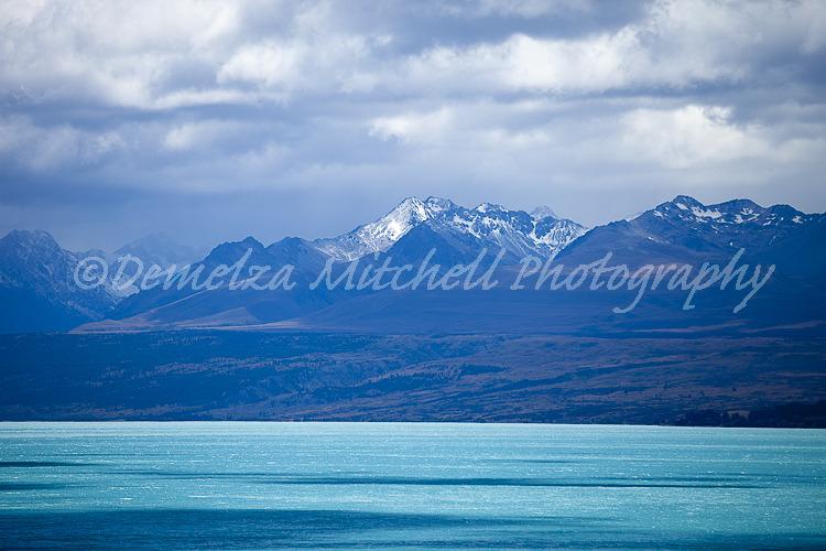 Study in Blues - The Burnett Mountains from Lake Pukaki