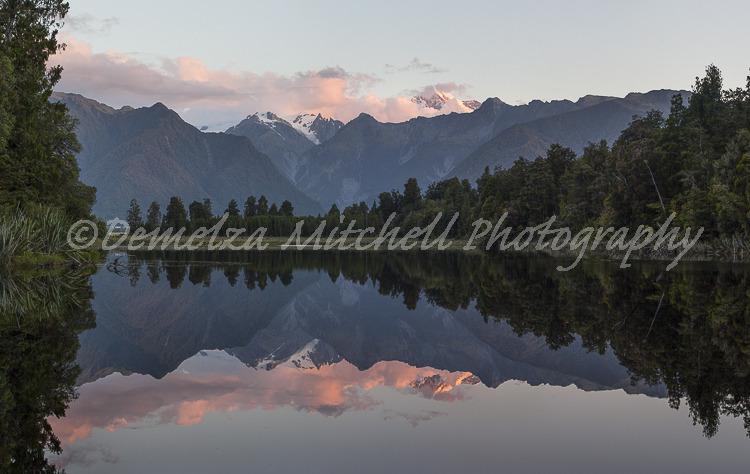 Evening light, Lake Matheson