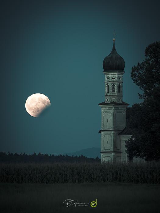 Partial lunar eclipse in bavaria