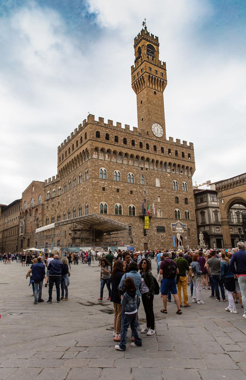 Florence Palazzo Vecchio's facade