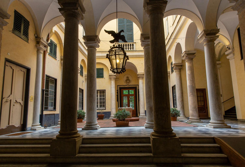 Genoa Building Entrance Via Garibaldi
