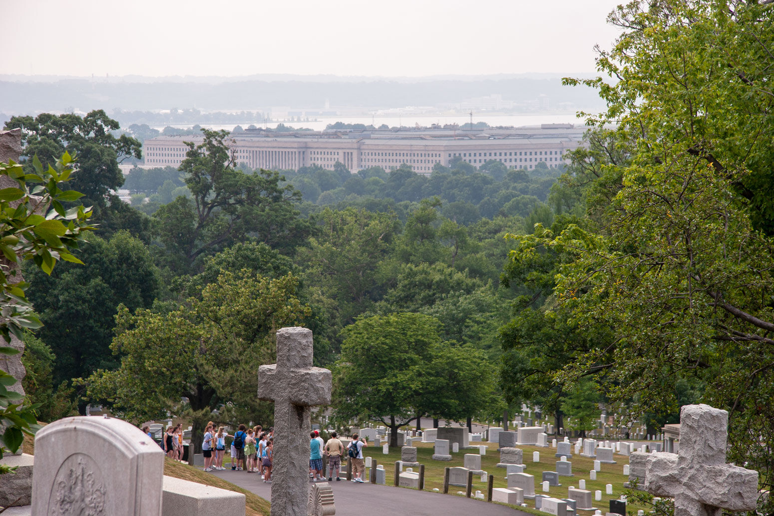 The War Dead overlook the Pentagon