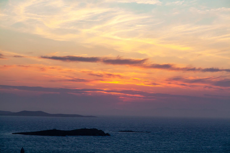 View Mykonos Sunset