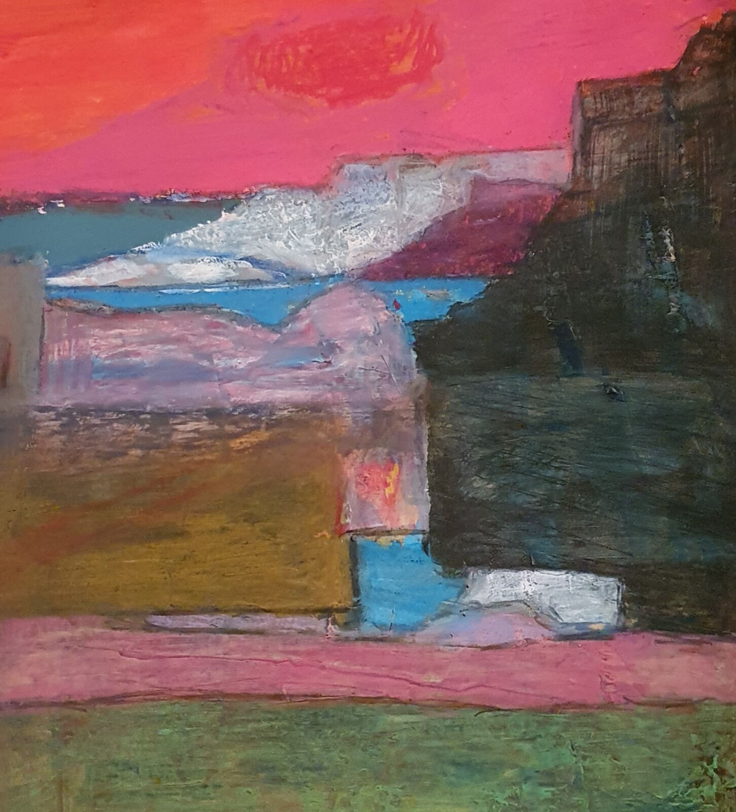 Coastal forms with pink