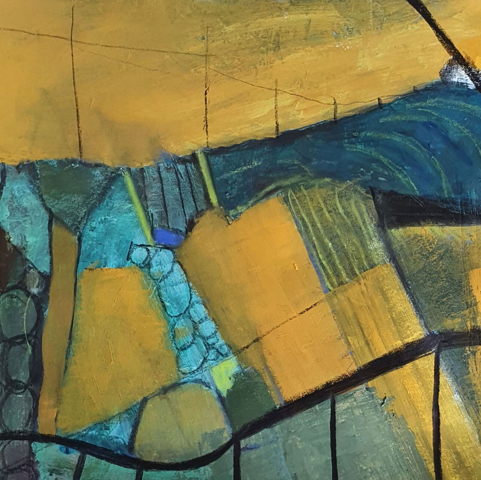 Landscape forms with blue