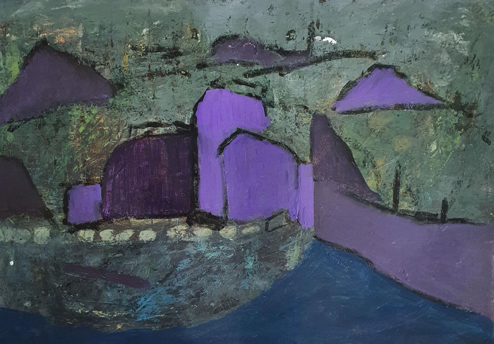 Landscape forms with violet