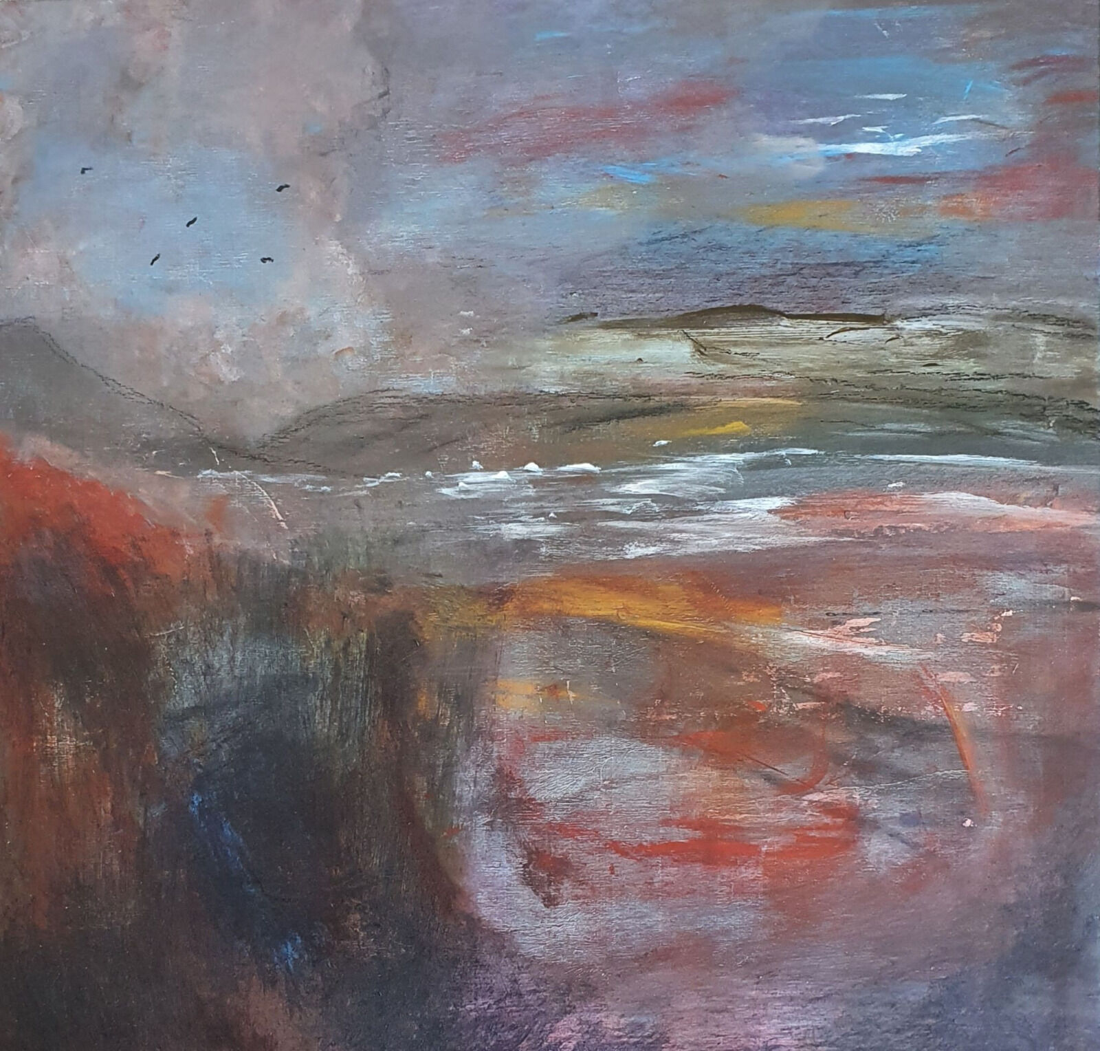 Seascape with red