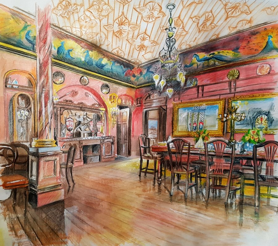 The dining room at Russell-Cotes