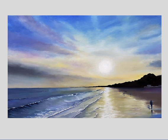 Sunset, Bournemouth beach