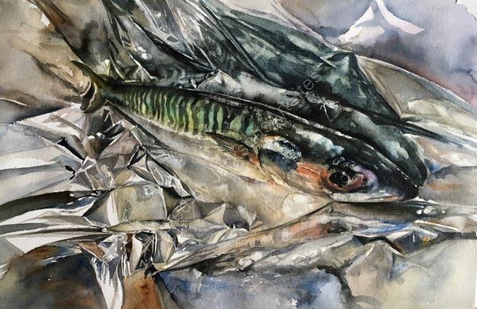 Mackerel in foil