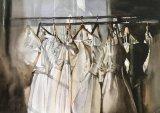 Wedding dress glow.