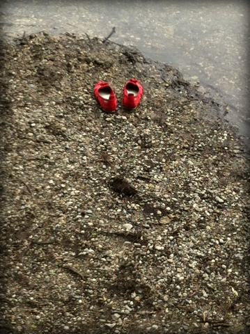 Red shoe beach