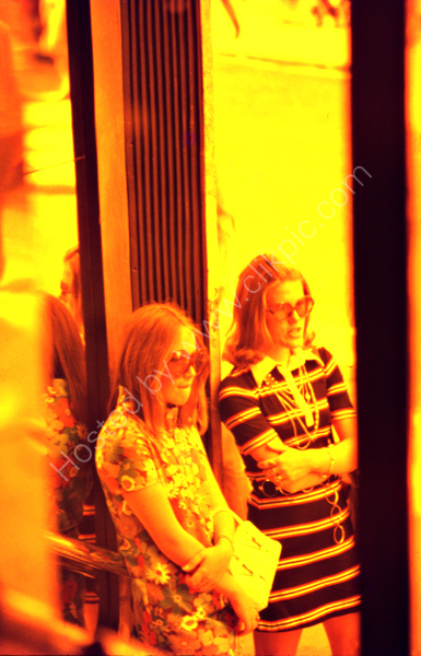 Two girls on the Kings Road, London