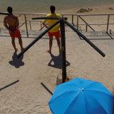 Lifeguards with blue umbrella, Cascais